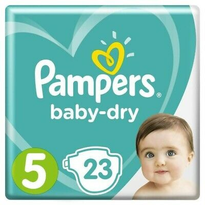 23 Couches Pampers Taille 5 • 12.50€