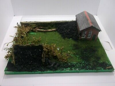 OO Gauge Coal Staithe Diorama With Railway Building & Stone Wall New • 5.05€