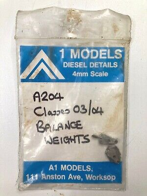 1 MODELS Diesel Details 4mm Scale A204 Classes 03/04 Balance Weights • 4.49€