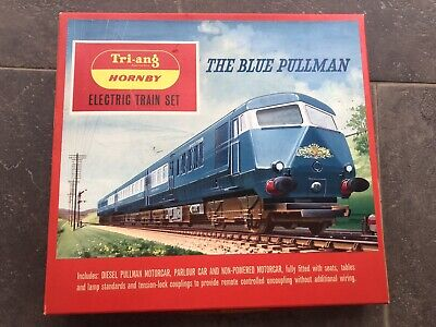 Triang Hornby Railways The Blue Pullman Train Set Boxed RS52 With Track • 147.33€