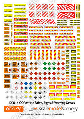 Vehicle Safety & Warning Decals For Oo Gauge 1:76 Scale Model Railway Dc014-oo • 7.26€