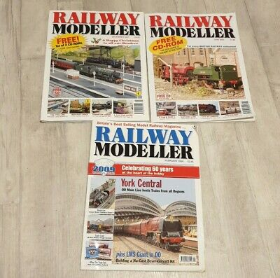3 Vintage 'RAILWAY MODELLER' Magazines June 2005 December 2007 & February 2009 • 2.81€