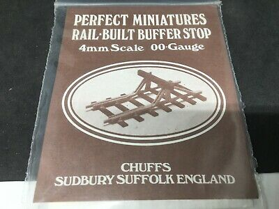 CHUFFS MODELS WHITE METAL KIT OO Rail Built Buffer Stop Neuf • 14.50€