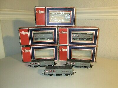 LIMA OO GAUGE  N.C.B. COAL WAGONS With LOADS X 5   EXCELLENT • 56.10€