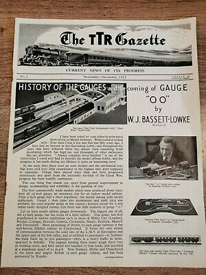 The TTR Gazette Nov 1937. TRIX Twin Railway OO Guage Newspaper • 2.25€