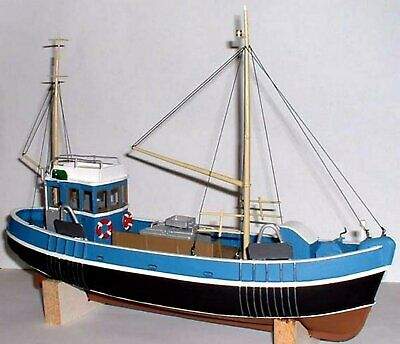 45ft Fishing Trawler Boat Ship OM1a UNPAINTED O Scale Langley Models Kit 1/43 • 168.48€