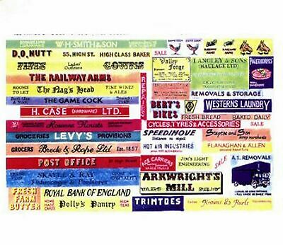 Shop Pub Signs Paper Copy Of Enamel Signs SMFty Colour OO Scale Models Decals • 3.91€