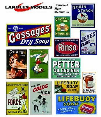 Household Posters Large Paper Copy Enamel SMF35 Colour OO Scale Models Decals • 5.93€