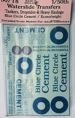 Blue Circle Cement 1:50 Waterslide Transfers 50-T8 Colour O Scale Langley Decals • 12.91€