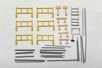 Model Yellow Scaffold Tower Barriers Sign Posts Racks Poles Railway Diorama S4 • 14.42€