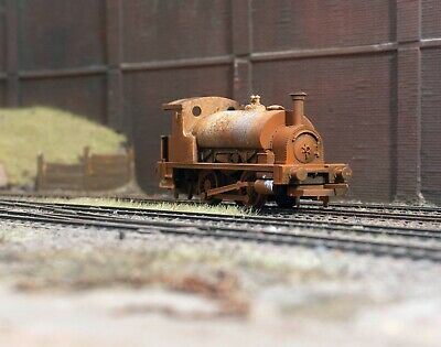 OO Gauge Scrapyard Saddle Tank Loco, Heavily Rusted And Weathered. Ref 9 • 22.72€