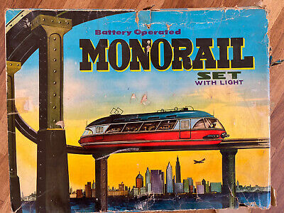Monorail Train Set No 9997 Battery Operated With Light • 55.61€