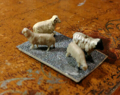 OO Scale Group Of 4 Sheep Mounted On Card • 1.09€