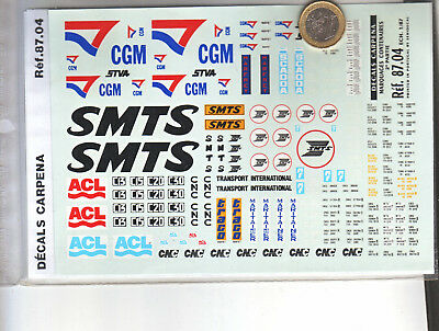 Decals Decalcomanie Marquage Pour Train Cgm Smts Acl Conteneurs Cantainers 1/87 • 6.50€