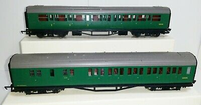 2x 00 Hornby Train Composite Coaches Used S5515S S3569S Southern Region • 33.74€