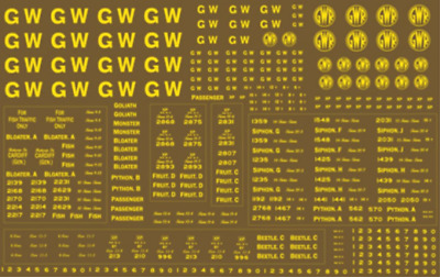 Modelmaster GW302 GWR Pass Stock Lettering OO Gauge Transfers • 10.28€