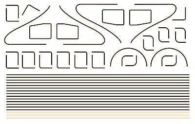 Modelmaster 4088 Oo Lining For Lner & Br A4 Locos Waterslide Transfer Decals • 12.11€