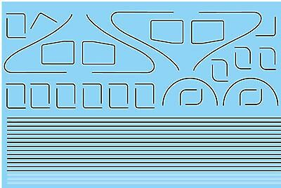 Modelmaster 4089 Oo Lining For Lner & Br A4 Locos Waterslide Transfer Decals • 12.34€