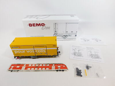 CH351-1# Bemo Spur 0m 9469 105 Post-Containerwagen Lb-v 7875 RhB Kadee, TOP+OVP • 159.99€