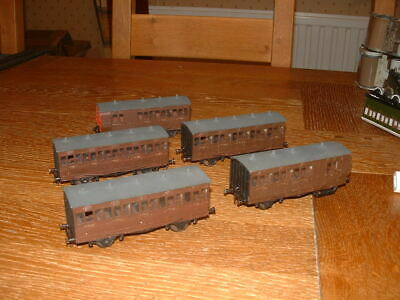 5 KIT BUILT LBSCR STROUDLEY 4-WHEEL COACHES In LBSCR Umber Livery EM Gauge • 113.65€