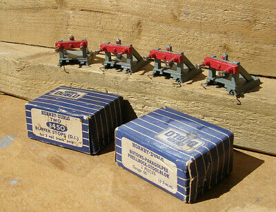 Two Pairs Vintage Hornby Dublo 3 Rail 3450 Buffer Stops (d1) V.good Cond. Boxed • 17.04€