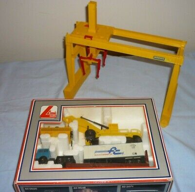 Lima Oo Gauge Container Unloading Crane Lorry Boxed & Overhead Container Gantry • 33.15€