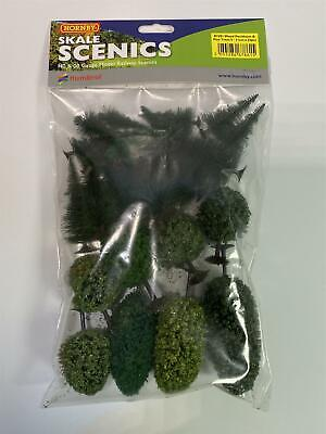 Hornby R7281 Mixed Deciduous And Pine Trees 4 - 11 Cm X 25 Pcs Skale Scenics • 22.45€