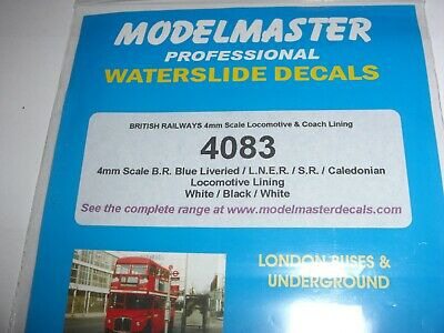 Oo Scale Modelmaster Waterslide Transfer Lining  Br /lner White And Black Lining • 3.37€