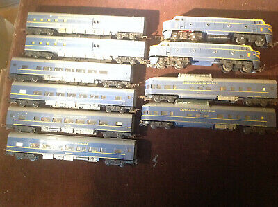 Triang Transcontinental Blue Set 2 Power Locos 2 Baggage2 70831 2 Diners 2 Vista • 40.17€