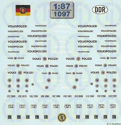 1097 - Decals Volkspolizei-Decalbogen 1:87 • 11.15€