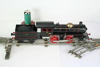 MARKLIN -- Locomotive Mécanique Et Son Tender En écartement 1 -- Repeinte • 380€