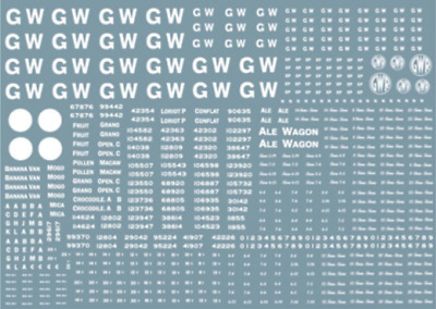 Modelmaster GW301 GWR Wagon Lettering & Numbering 1923 - 1947 OO Gauge Transfers • 10.28€