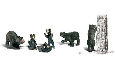 A2186 Animaux Ours Oursons Woodland Scenics Décors Train 1/160eme  • 24€