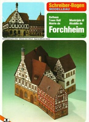 Schreiber-Bogen Modelbau Card Model Town Hall Forchheim 1/160 Excellent • 10.73€