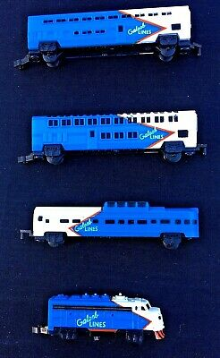 Vintage 1989 Micro Machines Galoob Lines Train  + Carriages + Track - Cool Set • 14.76€
