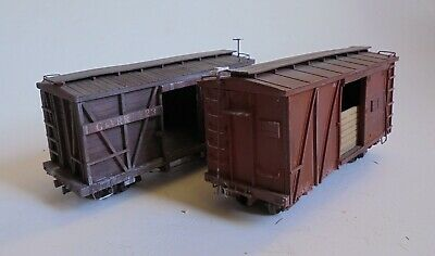 On30 2 Off Boxcars Boulder Valley Resin Kits Detailed & Weathered, See Pictures • 28.13€