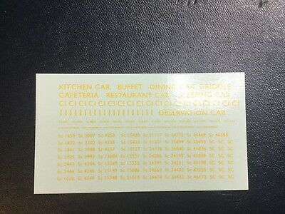 MODELMASTER 4MM TRANSFERS BR YELLOW LETTERING &  Nos Coaches (Set 4) 2 Sheets • 4.41€
