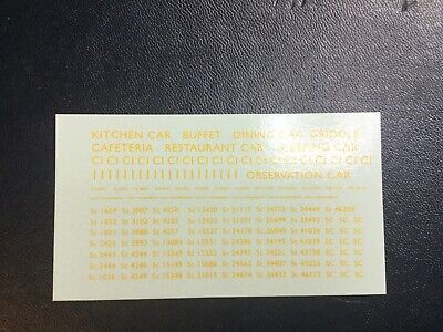 MODELMASTER 4MM TRANSFERS BR YELLOW LETTERING &  Nos Coaches (Set 4) 2 Sheets • 4.44€