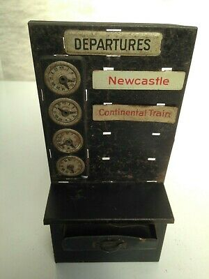 Pre War  Bing Tin Plate Departure Machine With Drawer And  2 Destination Signs • 84.46€