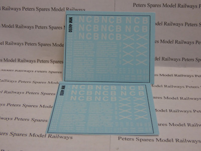 Modelmaster 4650 Lettering Numbering Area Markings For NCB Open Wagon OO Gauge • 7.06€