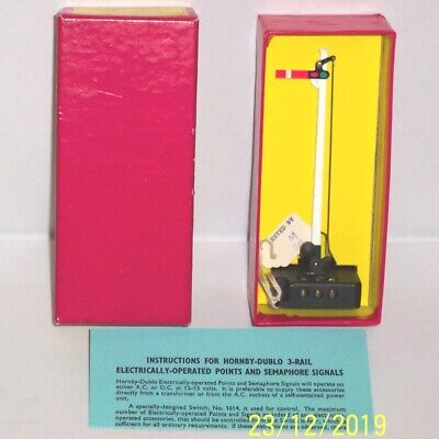 Rare Red Boxed Hornby Dublo 5065 Semaphore Signal Home Electrically Operated Exc • 105.04€
