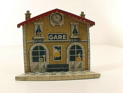 CR Charles Rossignol Gare Station Tôle Tin Toy 10 Cm • 17.17€