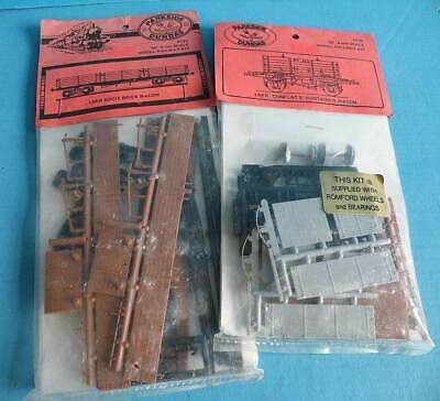 2 X Bagged Parkside Plastic 4mm Kits LNER Conflat Container & Bogie Brick Wagons • 6.14€