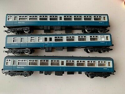OO Gauge Hornby Inter City Coaches X3 Two R724 & R726 Brake All 3 Very Good Plu • 12.29€