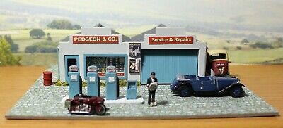 Country Garage With Pumps,  00  Model Railway Building, Diorama. • 34.08€