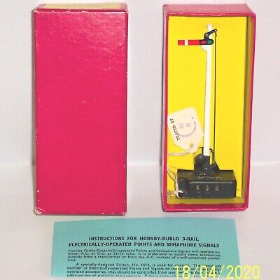 Rare Red Boxed Hornby Dublo 5065 Semaphore Signal Home Electrically Operated Exc • 102.81€