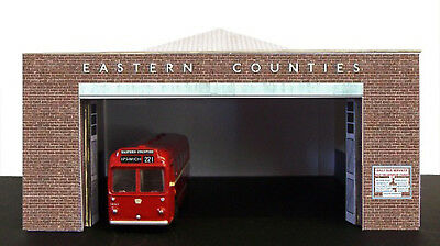 Kingsway, 00 Scale, Ipswich Eastern Counties Bus Depot,  ** Ready Made ** • 43.69€