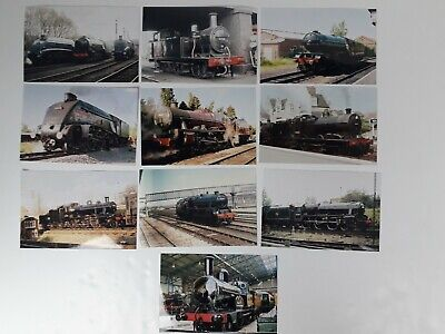 Steam Train Photos Joblot With Engine Numbers • 10.92€