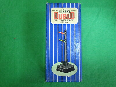 HORNBY DUBLO ED2 SEMAPHORE HOME And DISTANT SIGNAL Electrical Operation, Boxed. • 16.59€