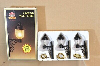LGB MODEL POWER 999 G SCALE 3 ROUND WALL LIGHTS Compatible With ARISTOCRAFT Pdbp • 26.79€